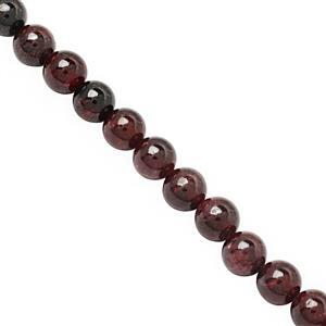 125cts Garnet Smooth Round Approx 6 to 6.50mm, 28cm Strand