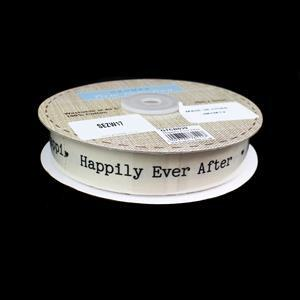 Wedding Ribbon - Happily Ever After Approx 25mx22mm