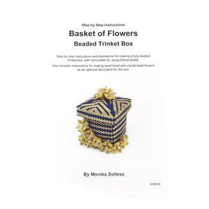 Basket of Flowers Beaded Trinket Box Booklet By Monika Soltesz