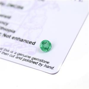 0.15cts Ethiopian Emerald 3.75x3.75mm Round  (N)