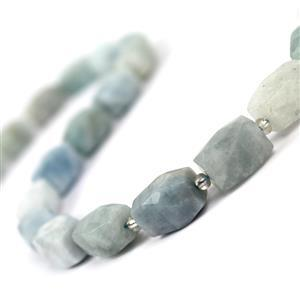 440cts Aquamarine Faceted Beads Approx 11x16mm, 38cm
