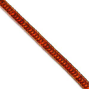 Baltic Cognac Amber Double Drilled Chevron Bead Strand Approx. 7x10mm, 20cm Strand