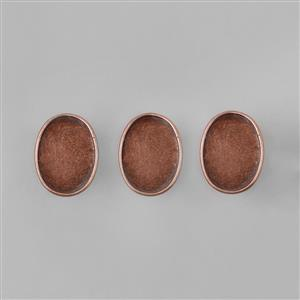 Antique Copper Plated Bezel Ring Oval - 15x20mm (3pcs/pk)