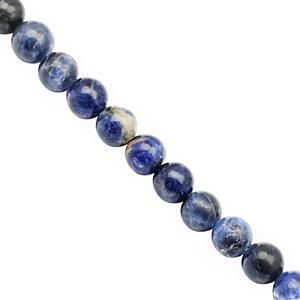 74cts Sodalite Smooth Round Approx 6 to 6.50mm, 30cm Strand