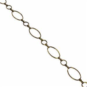 1m Antique Bronze Plated Brass Chain with Oval Links - 20x12mm