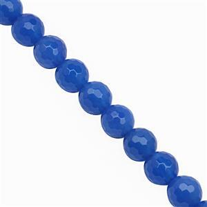 85cts Blue Chalcedony Faceted Round Approx 8mm, 19cm Strand