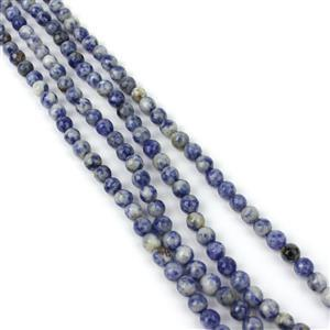 380cts Blue Jasper Faceted Rounds Approx 6mm, 60