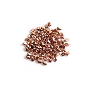 Czech Gekko Beads 3x5mm - Crystal Capri Gold Full (100pcs)