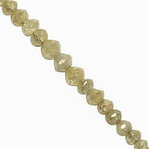 2.10cts Yellow Diamond Graduated Faceted Rondelle Approx 1.5x1 to 2.5x2mm, 5cm Strand