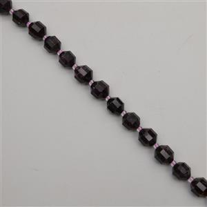 260cts Garnet Faceted Satellite Beads Approx 9-10mm, 38cm