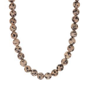 224.70ct Dalmatian Jasper Sterling Silver Necklace