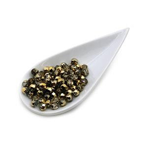 Crystal Amber Fire Polish Beads, 6mm (75pcs)