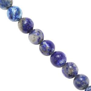 105cts Lapis Lazuli Plain Round Approx 6mm, 37cm Strand.