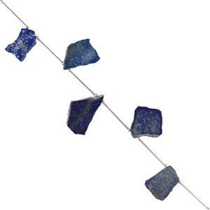 90cts Lapis Lazuli Plain Slabs Approx 21x15 to 28x20mm, (Pack of 4)
