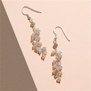 925 Sterling Silver Waterfall Earrings Kit With Labradorite Rondelles (1pair)