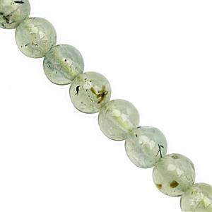 81.50cts Prehnite Smooth Round Approx 6mm, 28 cm Strand