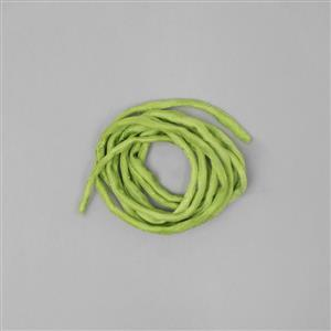 1m Peridot Green Silk Cord Approx 2mm