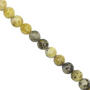 92cts Opal With Calcite Smooth Round Approx 7.50 to 8mm, 22cm Strand