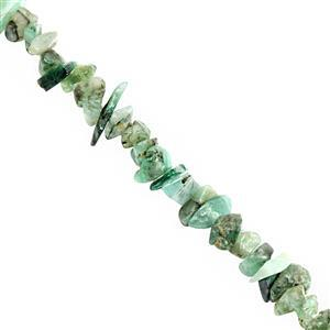 320cts Emerald Bead Nugget Approx 3x1 to 7x2.5mm, 250cm Strand