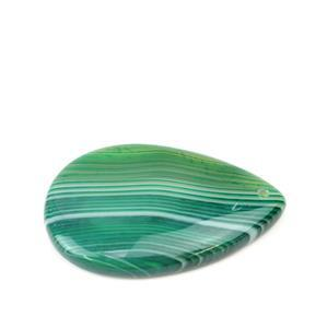 50cts Green Stripe Agate Pear Pendant Approx 30x50mm ,1pk