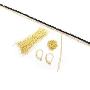 Golden Opulence Inc: 28cts Black Spinel Faceted Rounds Approx 3mm, 38cm Strand