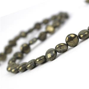 160cts Pyrite Puffy Coins Approx 8mm, Approx 38cm strand