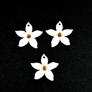 Acrylic Daisy Pendant & Earring Set