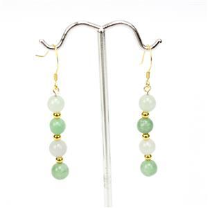 12ct Multi-Colour Jadeite Gold Tone Sterling Silver Earrings