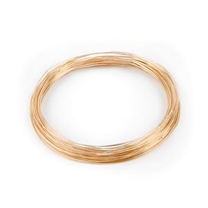 12m Champagne Gold Colored Silver Plated Copper Wire 0.50mm