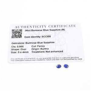 0.9cts Burmese Blue Sapphire 5x4mm Oval Pack of 2 (N)