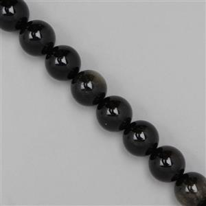 460cts Golden Obsidian Plain Rounds Approx 14mm, 38cm strand