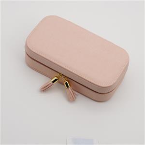 Pink Travel Size Jewellery Box Approx 17.5x9.5x5cm