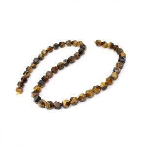 120cts Tiger Eye Star Cut Beads Approx 8mm, 38cm Strands