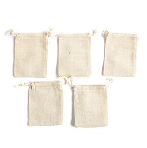 Cotton Pouches Approx 9x12cm (5pk)
