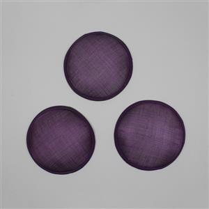 Cambric Fascinator Bases Purple Round - 13.5cm (3pcs/pk)