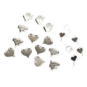 Fill your Heart Ceralun Bezel kit-Heart shaped earrings (3 pairs); Rings(3) & Pendants(10)
