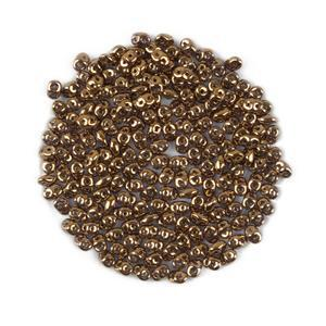 SuperDuo Gold Lustre Beads Approx 2.5x5mm (24GM/TB)