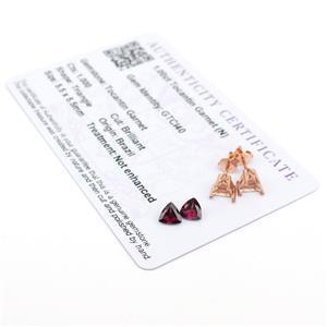 Rose Gold Triangle Garnet Ring Kit; 5.5m Garnet & Mount