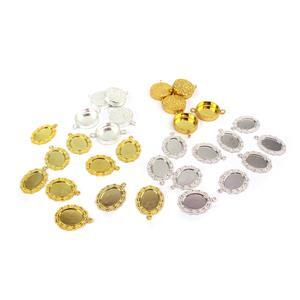 Bezel Collection; Selection of Silver and Gold Coloured Bezels 30pcs