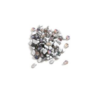 Czech Gekko Beads 3x5mm - Crystal Volcano Matte (100pcs)