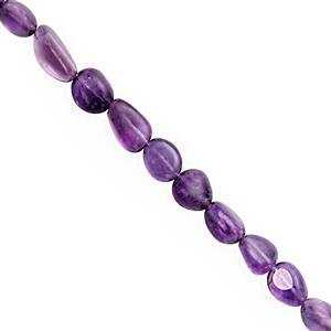 140cts Amethyst Smooth Tumble Approx 7x4 to 15x7mm, 38cm Strand