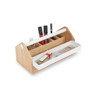 Toto Medium Storage Box White/Natural 25.4 x 12.7 x12.7cm