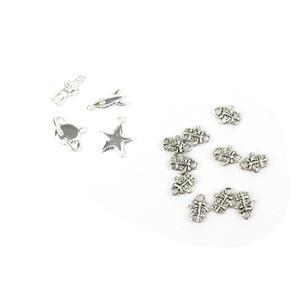 Silver Plated Charm Collection inc Rocket, Star, Spaceman, Planet & 10x Present Charms