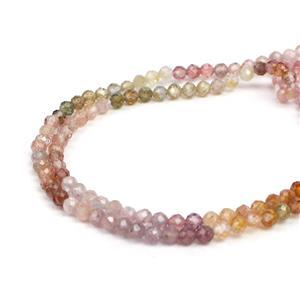 10cts Multi-Colour Spinel Faceted Rounds Approx 2.5mm, 31cm