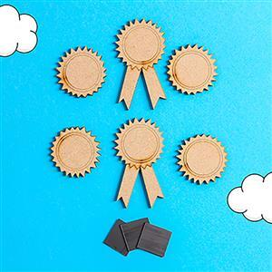MDF Rosette and Medal Set