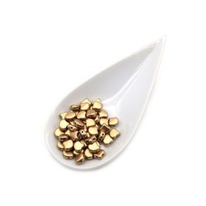Ginko Bronze Pale Gold Beads (22GM/TB)