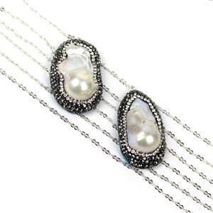 Embellished Baroque Pearl Pendant Kit
