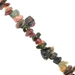 120cts Multi-Colour Tourmaline Bead Nugget Approx 3x1.5 to 8x3mm, 32