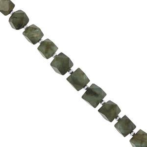 95cts Labradorite Faceted Fancy Approx 6x5.90 to 9.50x8.75mm, 24cm Strand with Spacers