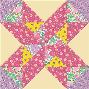 John Cole-Morgan's BOW Block 6: Blossom 'Moving on Up' Quilt Kit: Instructions & Panel
